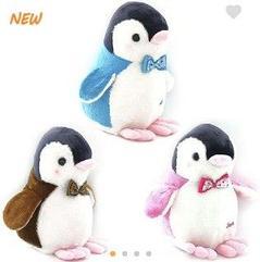 Пингвины цветные 25 см