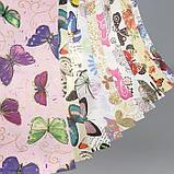 "Бумага 1-сторонняя с золотым тиснением ""Бабочки""набор 50 листов  пл-сть 80 гр 49,5х34,5 см, фото 2"
