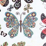 "Бумага 1-сторонняя с золотым тиснением ""Бабочки""набор 50 листов  пл-сть 80 гр 49,5х34,5 см, фото 7"