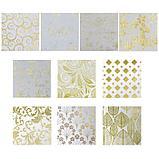 "Бумага  1-сторонняя с золотым тиснением ""Золото""набор 50 лист.,плотность 80 гр 49,5х34,5 см, фото 3"