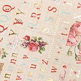 """Набор бумаги для скрапбукинга 24 листа 12 дизайнов """"Цветочная эйфория"""" 30х30 см, фото 3"""