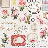 """Набор бумаги для скрапбукинга 24 листа 12 дизайнов """"Цветочная эйфория"""" 30х30 см, фото 9"""