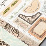 """Набор бумаги для скрапбукинга 24 листа 12 дизайнов """"Ретро серия"""" 30х30 см, фото 3"""