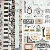 """Набор бумаги для скрапбукинга 24 листа 12 дизайнов """"Ретро серия"""" 30х30 см, фото 7"""