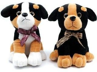 Собака черные ушки 25 см