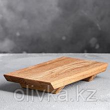 Доска для суши, 21 х 12 х 3 см, массив дуба