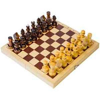 Игра настольная Шахматы, Орловские шахматы, походные деревянные, с доской