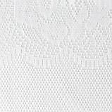 Штора кухонная р.М512Б на шторной ленте в165*ш245 см, белый, пэ 100%, фото 2