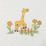 """Тюль  """"Этель"""" 250*270 см  Весёлый жирафы (белый) б/утяжелителя, 100% п/э, фото 2"""