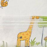 """Тюль  """"Этель"""" 250*270 см  Весёлый жирафы (белый) б/утяжелителя, 100% п/э, фото 4"""