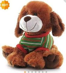 Собака в полосатой кофте 26 см