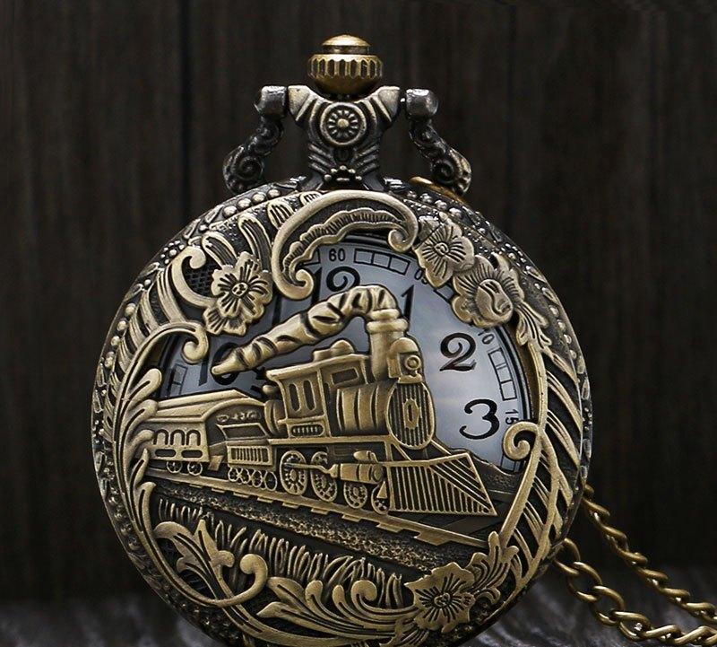 """Карманные кварцевые часы на цепочке """"Поезд"""". Kaspi RED. Рассрочка."""