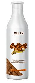 """OLLIN Cocktail BAR Крем-шампунь для волос """"Шоколадный коктейль"""""""