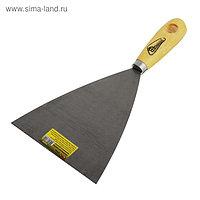 Шпатель малярный Hobbi, 120 мм, пружинно-рессорная сталь, ручка дерево