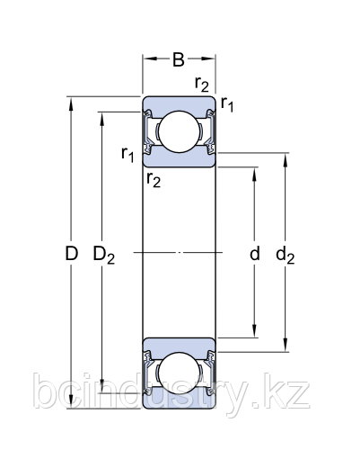 6000-2RZTN9/C3LHT  подшипник SKF