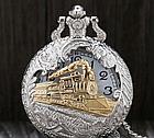 """Карманные кварцевые часы на цепочке """"Поезд"""". Kaspi RED. Рассрочка., фото 4"""