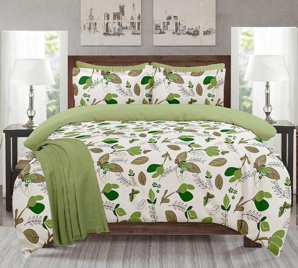 """Комплект постельного белья """"Аврора зеленая"""" 2-х спальный"""