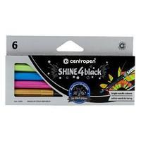 """Набор маркеров для декорирования Centropen """"Shine4black"""" 6цв., метал., пулевид., 2,5 мм, карт.европ"""