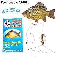 Монтаж универсальный карповый для рыбной ловли с крючком МУСТАД 40 грамм