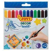 """Набор фломастеров для ткани JOVI """"Decor textil"""" 12 цв, европодвес"""