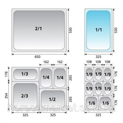 Гастроемкость перфорированная gn 1-4-100 30914100, фото 2