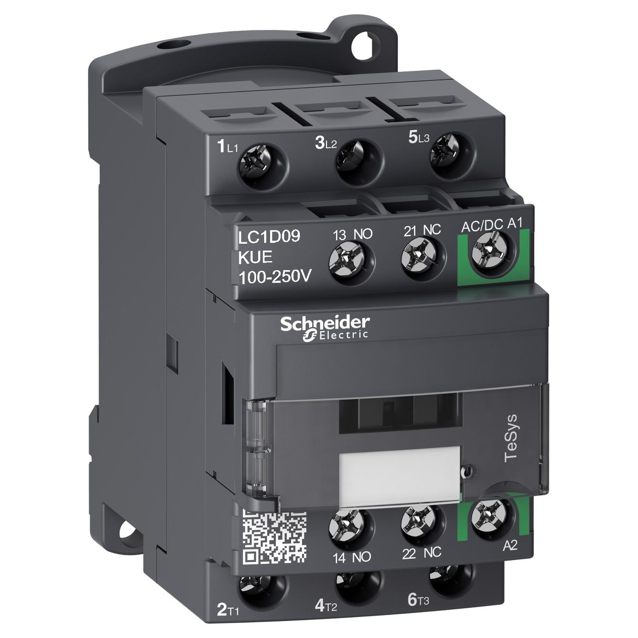 Контактор D 3Р 9A 440В 100-250В AC/DC /LC1D09KUE/