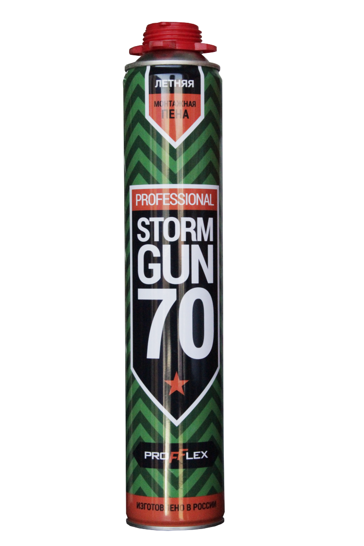 Пена монтажная STORM GUN PRO 70л NEW ЗИМА