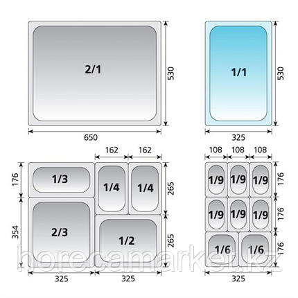 Гастроемкость перфорированная gn 1-6-65 30916065, фото 2