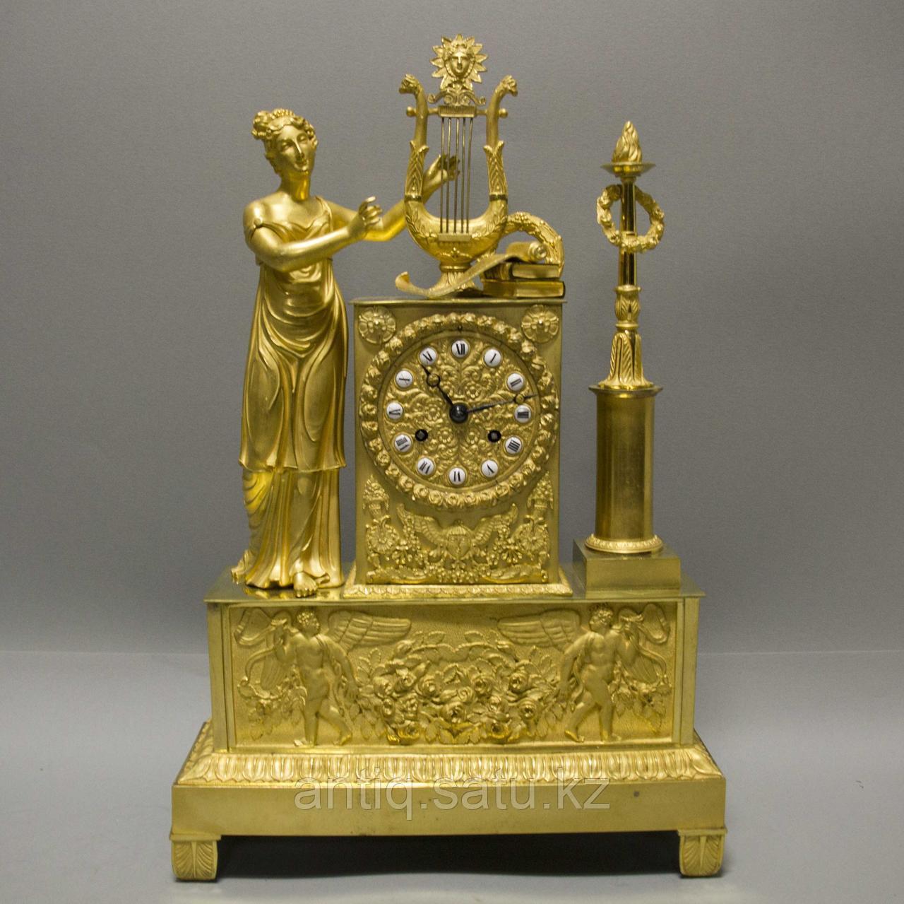 Кабинетные часы в стиле Ампир «Аллегория музыки» - фото 7