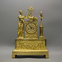 Кабинетные часы в стиле Ампир «Аллегория музыки»