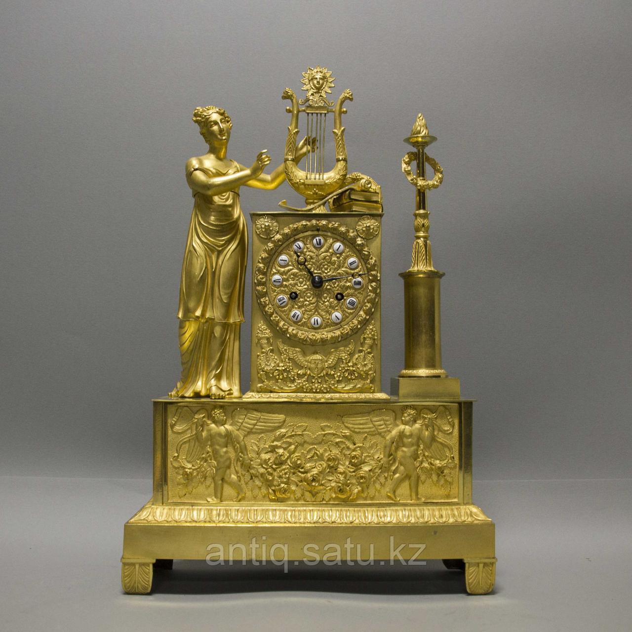 Кабинетные часы в стиле Ампир «Аллегория музыки» - фото 1