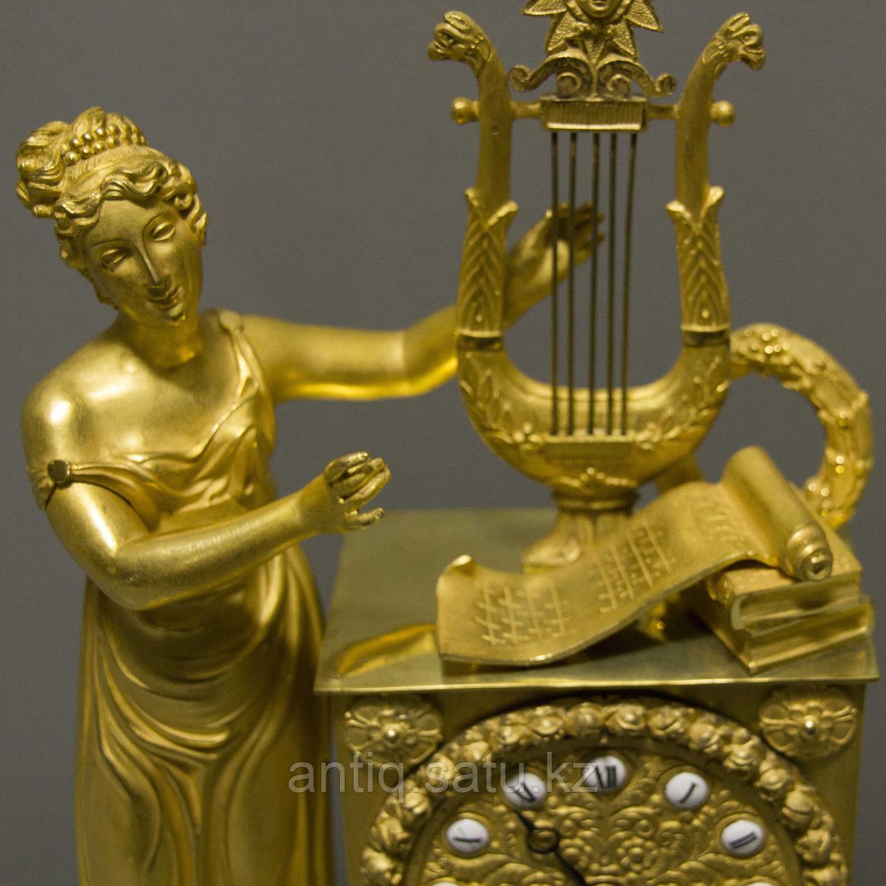 Кабинетные часы в стиле Ампир «Аллегория музыки» - фото 2