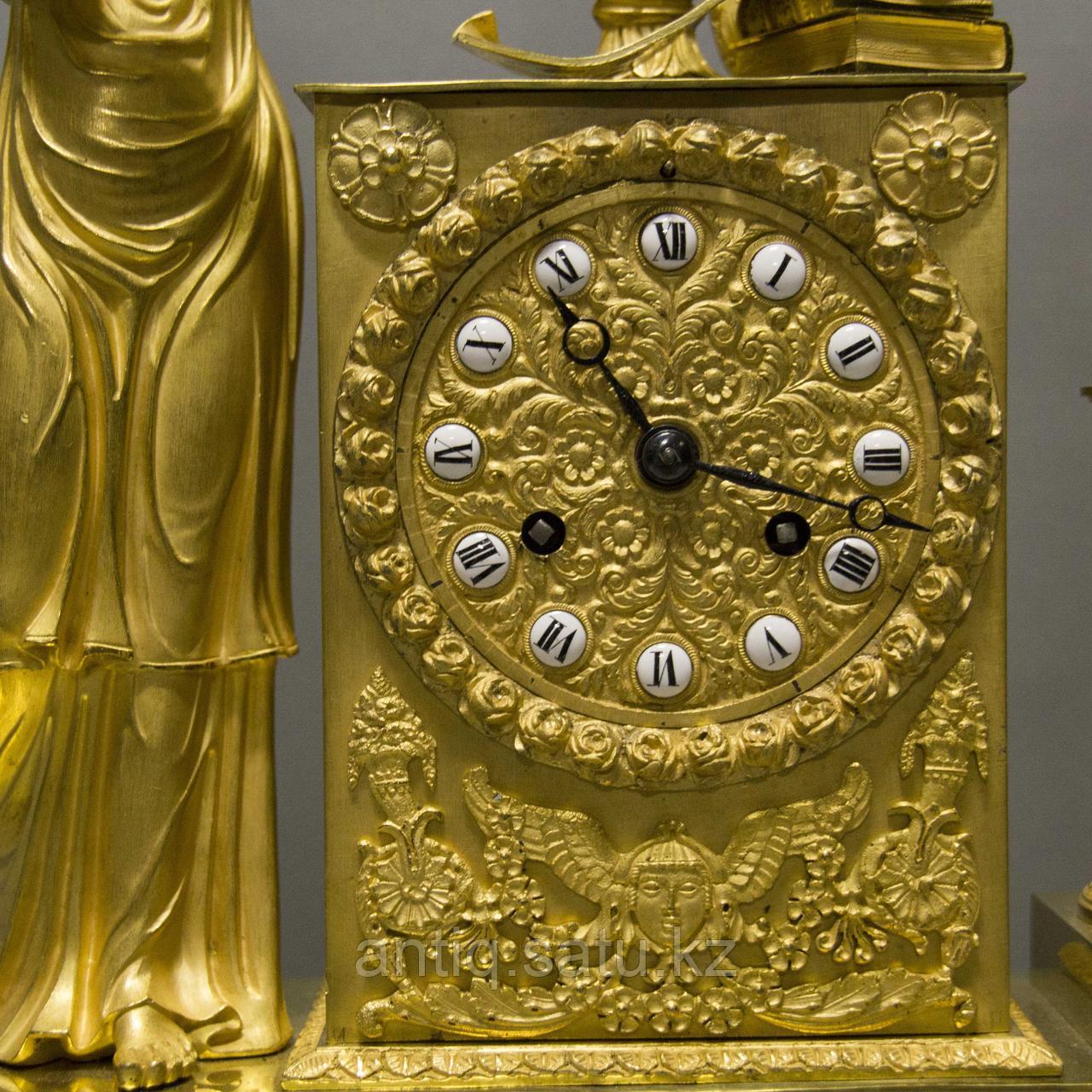 Кабинетные часы в стиле Ампир «Аллегория музыки» - фото 4
