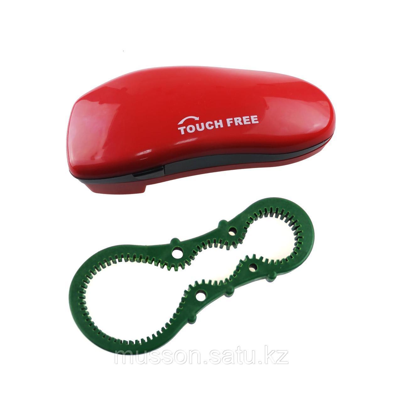 Электрический консервный нож с противоскользящим кольцом для открывания