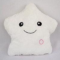 Светящаяся плюшевая подушка с функцией воспроизведения, цвет белый, фото 1