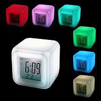 Часы-ночник Color Changing Clock (меняют цвет), фото 1
