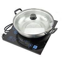 Индукционная плита портативная на 1 конфорку + кастрюля в подарок, фото 1