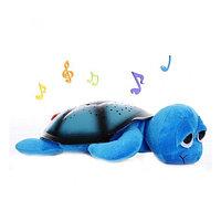 Ночник проектор звездного неба Черепаха (голубая), фото 1