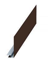 Планка карнизного свеса сложная 250х50х3000 Матовый МП