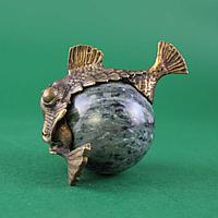 Рыба-шар. Натуральный камень