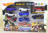 DE-10 Металл. Машинки мстители Avengers Super Hero Racing Car 10 шт 19*16см