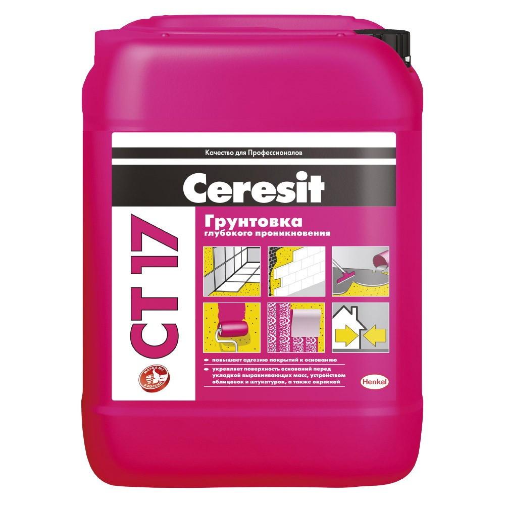 Ceresit СТ 7 Грунтовка универсальная глубокопроникающая водно-дисперсионная, 5 л