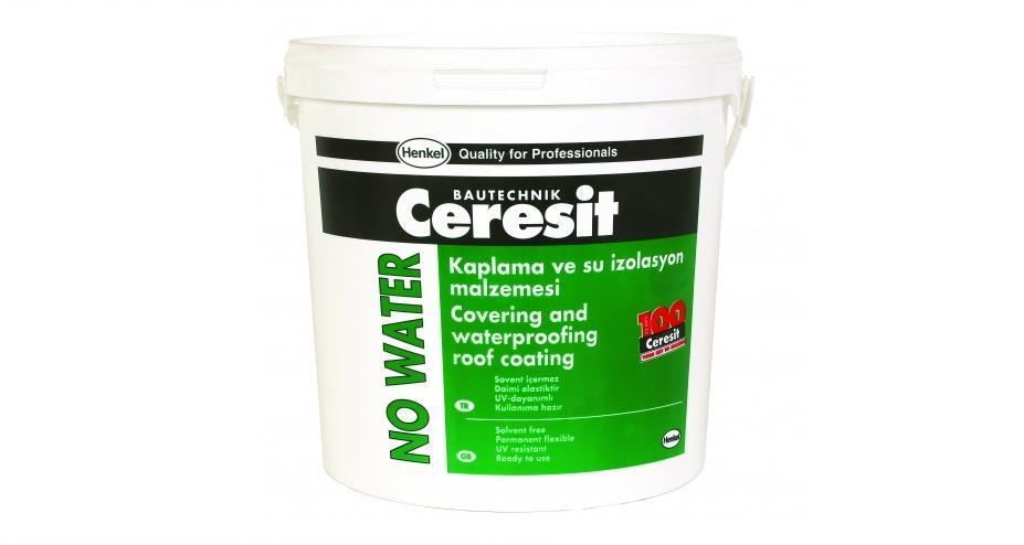 """Ceresit """"NO Water"""" Эластичное покрытие крыши, 20 кг, белая"""