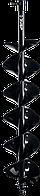 Шнек для мотобуров ЗУБР, мерзлый грунт, d=150 мм, двухзаходный, 7052-15