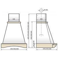 Вытяжка Кухонная вытяжка ELIKOR Ротонда 90П-650-ПЗД бежевый/дуб, фото 2