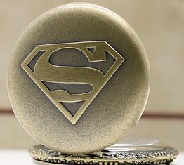 Карманные кварцевые часы на цепочке Super Man. Подарок! Kaspi RED. Рассрочка.