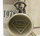 Карманные кварцевые часы на цепочке Super Man. Подарок! Kaspi RED. Рассрочка., фото 5