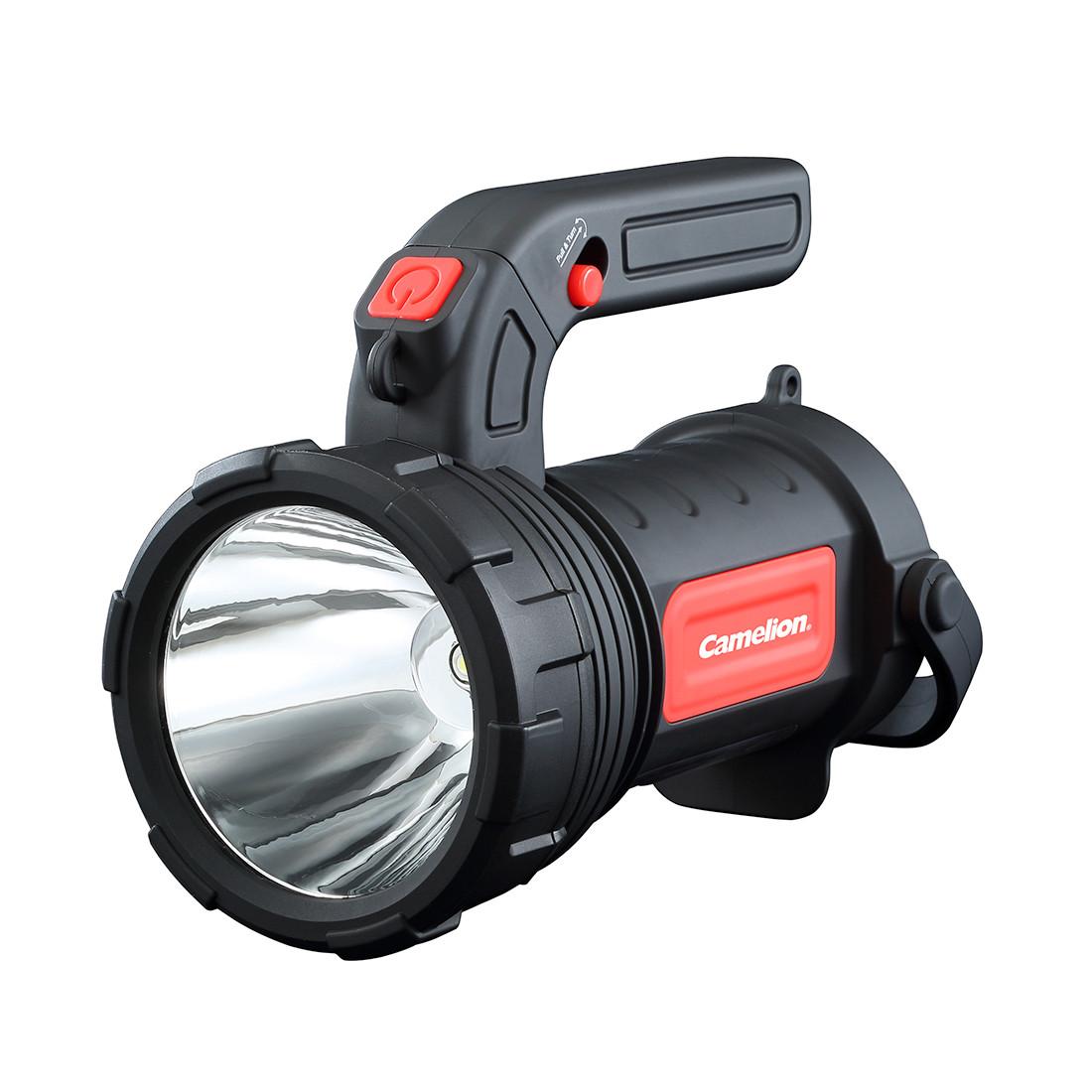 Прожекторный + кемпинг фонарь светодиодный Camelion S32-3R6PCB (230 lm, Black)