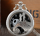 Карманные кварцевые часы на цепочке. Черепок!, фото 5