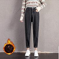 Женские джинсы утепленные M, L , черный цвет